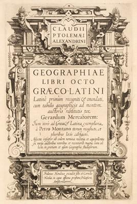 Lot 11 - Mercator (Gerard) - Ptolemaeus (Claudius). Geographiae libri octo, 1605