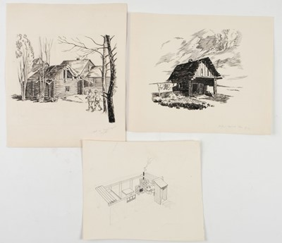 Lot 314 - POW Sketches. A collection of WWII German sketches, Russian POWs etc