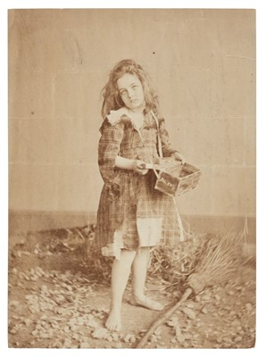 Lot 26-Rejlander (Oscar Gustave, style of). Little matchgirl, c. 1860, albumen print