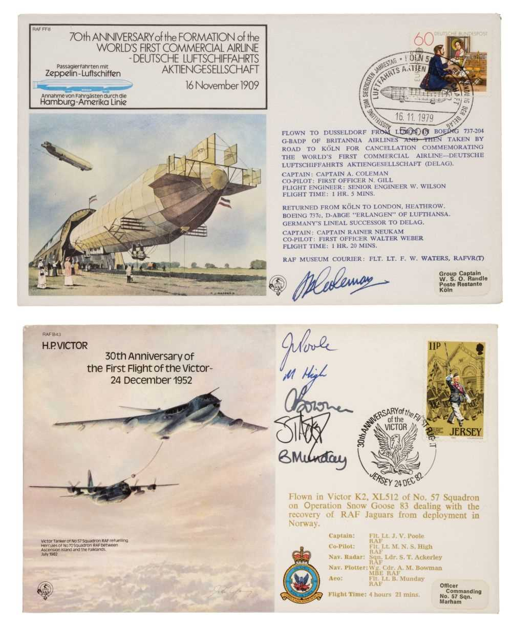 Lot 43 - First Day Covers. An extensive collection of signed aviation FDCs