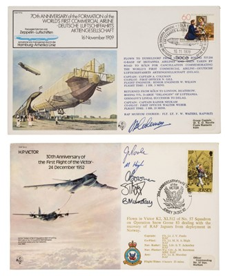 Lot 43-First Day Covers. An extensive collection of signed aviation FDCs