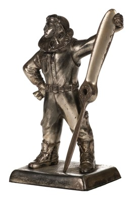 Lot 4-Airman Table Lighter Deskpiece, circa 1930s
