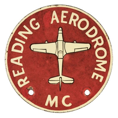 Lot 36-Car Badge. Reading Aerodrome (RAF Woodley), Motor Club Car Badge, circa 1930s/40s