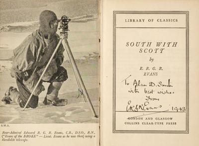 Lot 17 - Evans (Admiral Sir E.R.G.R.). South with Scott, 1924