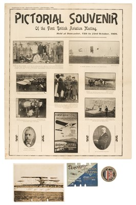 Lot 40-Doncaster 1909. A collection of early aviation ephemera