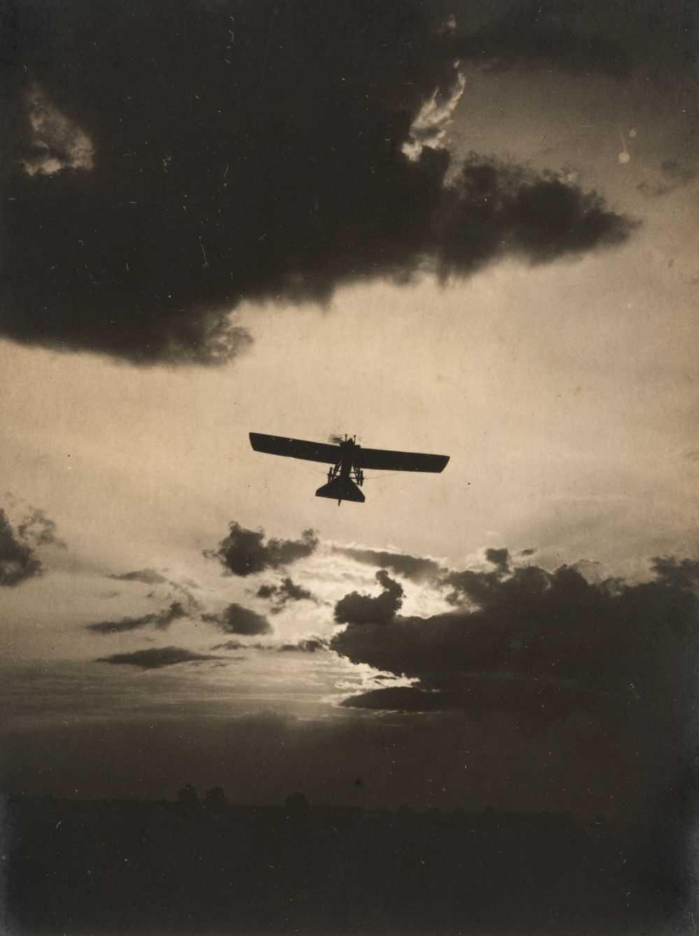 Lot 16-Aviation postcards. A loose-leaf postcard album of approximately 86 postcards