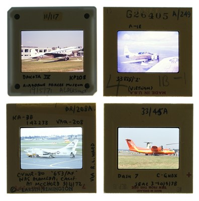 Lot 20-Aviation Slides. A large and impressive collection of 35 mm colour slides