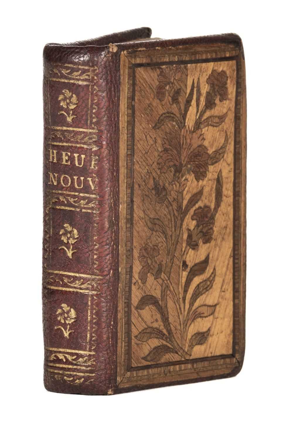 Lot 462 - Straw-work miniature binding. Heures Nouvelles, Dediees A La Noblesse, 1787