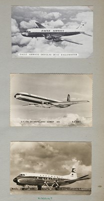 Lot 17-Aviation Postcards. A superb personal aircraft postcard collection