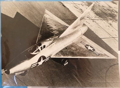 Lot 12-Aviation Photographs. A collection of black and white photographs