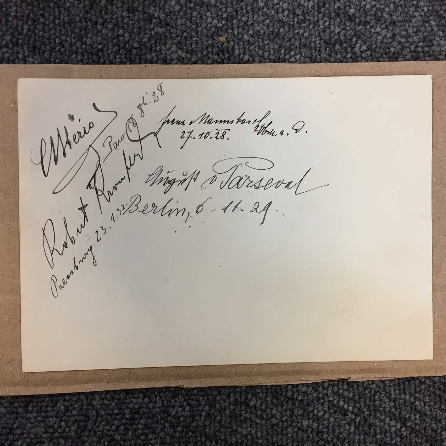 Lot 32 - Bleriot (Louis, 1872-1936). A multi-signed document