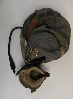 Lot 44 - Flying Helmets. A WWII B Type flying helmet and others