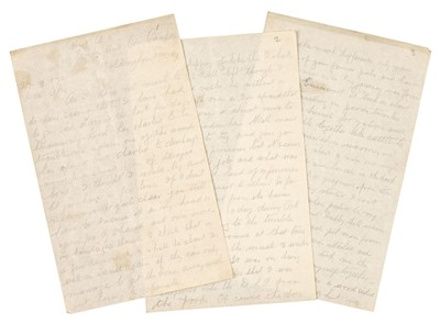 Lot 327 - WWI - Battle of the Somme. Autograph Letter Signed, 'John', Hut A5, Duke's Hill Con[valescent] Camp