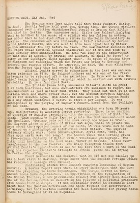 Lot 320 - Stalag III-A. Camp News Service of Stalag III-A at Luckenwalder, 25 April to 19 May 1945