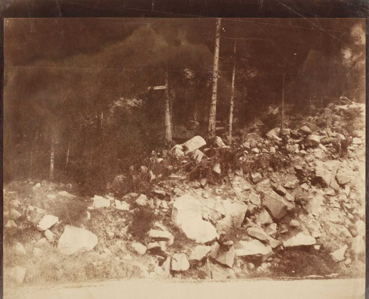 Lot 6-Dijon (V., 19th century). Mountainous woodlands in France or Germany, c. 1854