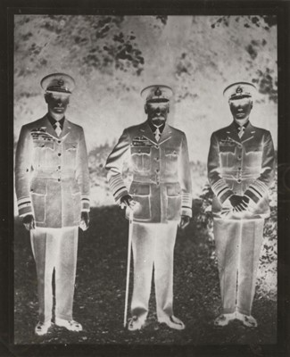 Lot 46-George V (King of Great Britain). A group portrait of the 'Three Kings' in Royal Air Force uniform