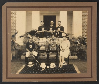 Lot 23-Polo. A group of 25 medium & larger-format photographs of the Western polo players, mostly. c. 1890s