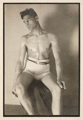 Lot 48-Glover (Montague Charles, 1898-1983). A group of 7 studies of a male model in studio, c. 1930-35