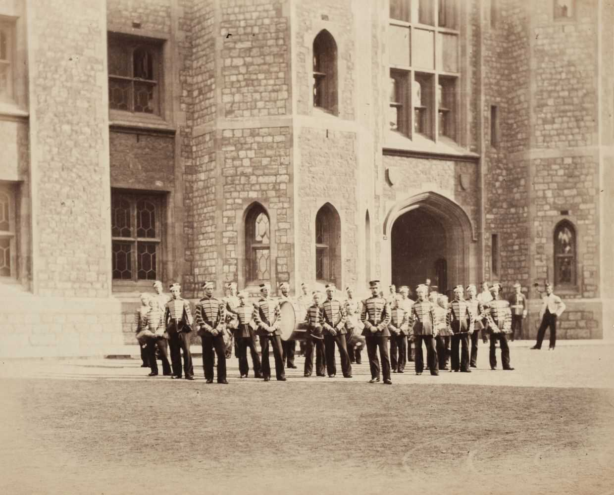 Lot 9-Fenton (Roger, attributed to). Military band on parade, c. 1858-1860