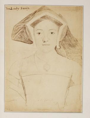 Lot 13-Fenton (Roger, 1819-1869). Album of 37 mounted albumen prints of portrait drawings, c. late 1850s