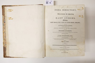 Lot 19 - Horsburgh (James). India Directory, 2nd edition, 1817-18