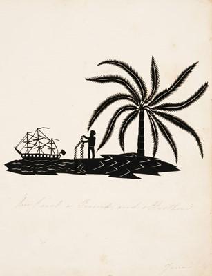Lot 474 - Slavery. A scissor cut, circa 1820s-1830s