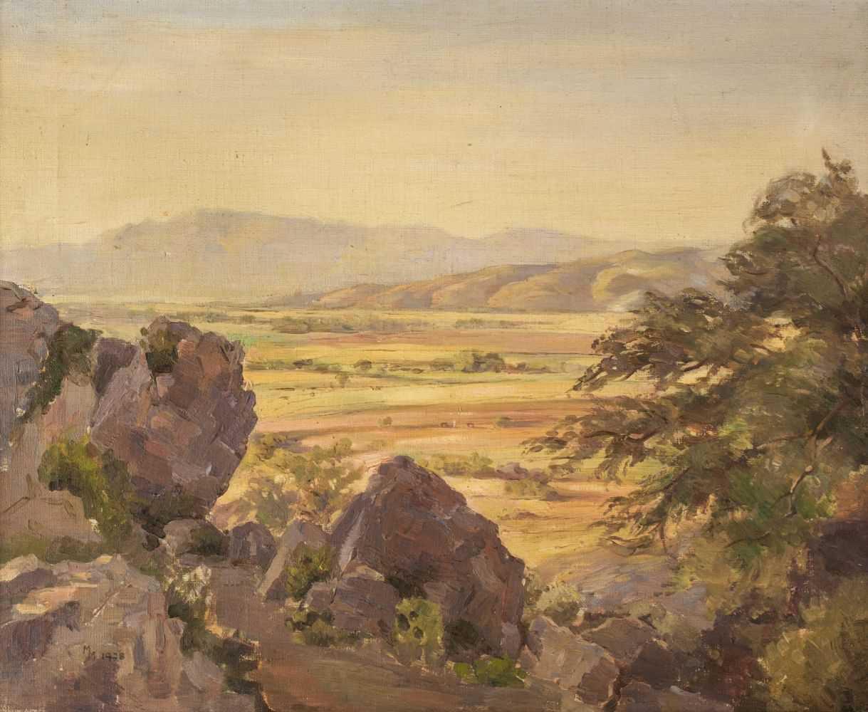 "Lot 22 - Marshall (M., early 20th century). ""Sunlit plains, Taxila"", 1928"