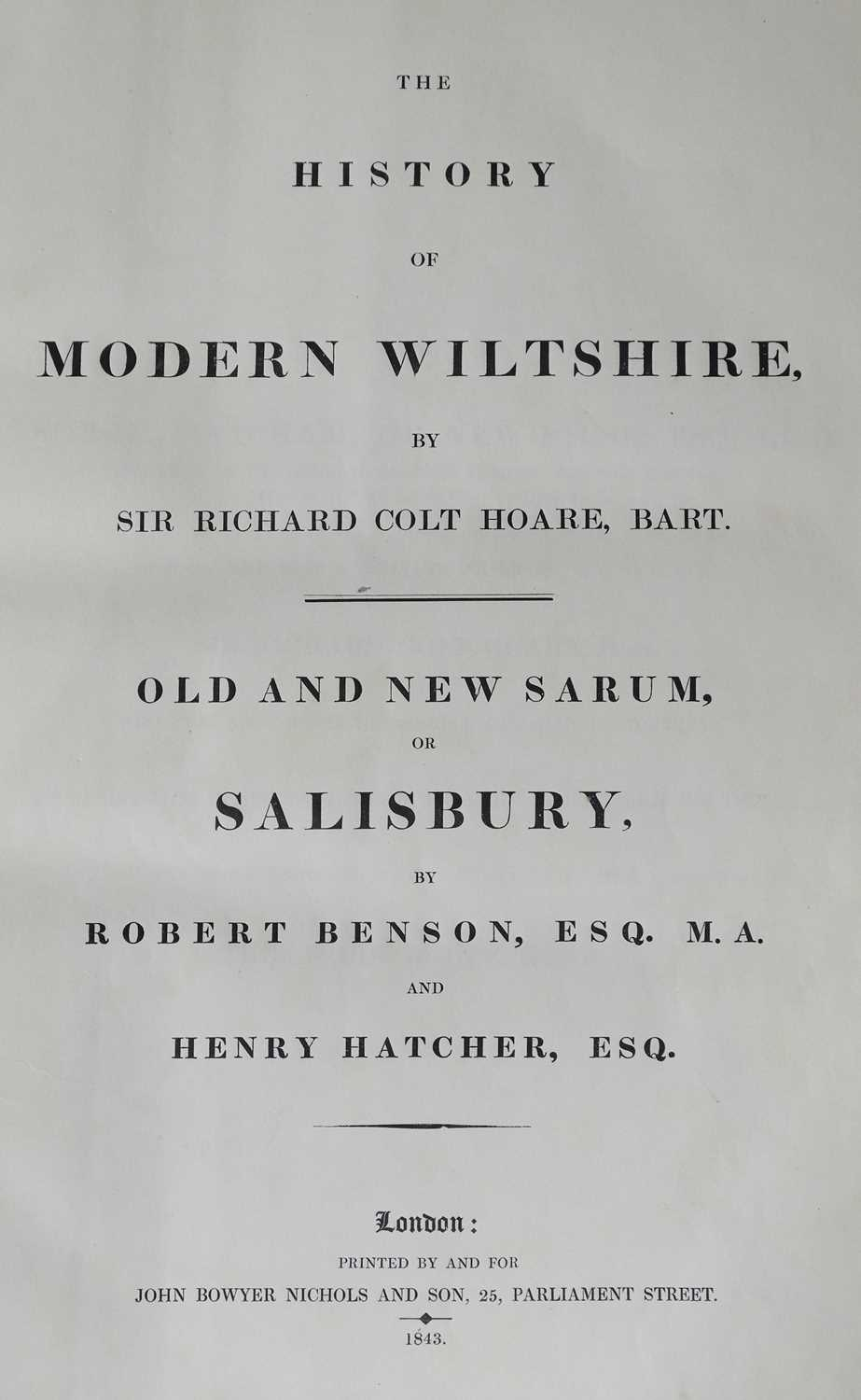 Lot 48 - Hoare (Richard Colt). The History of Modern Wiltshire, 14 volumes in 11, 1822-1844