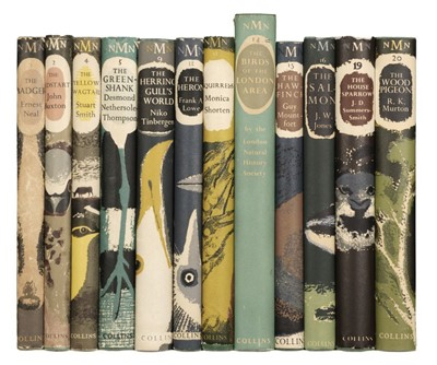 Lot 119 - New Naturalist Monographs. Numbers 1,2, 4, 5, 9, 11, 12, 14-16, 19, 20, 1st editions, 1948-65