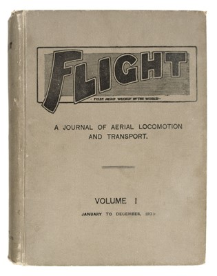 Lot 378 - Flight.  First Aero Weekly in the World, vols. 1-7, 1909-1915