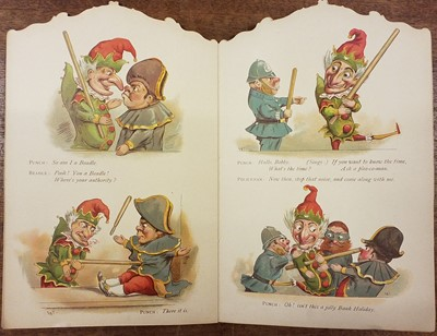 Lot 461 - Punch and Judy. Die-cut shaped book, London: Ernest Nister, [1891?]