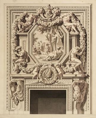 Lot 321 - Italian School. Design for a chimneypiece, circa 1820