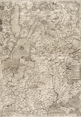 Lot 176 - Poland. Gastaldi (G.), Il Disegno de Geografia Moderna del Regno di Polonia..., 1562