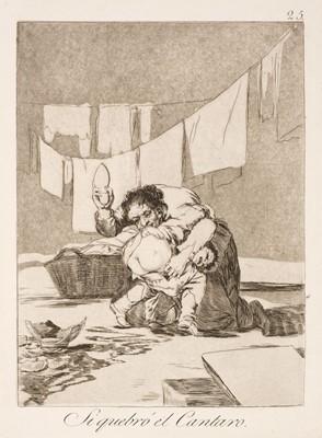 Lot 341 - Goya (Francisco de, 1746-1828). Si quebro el Cantaro, 1799