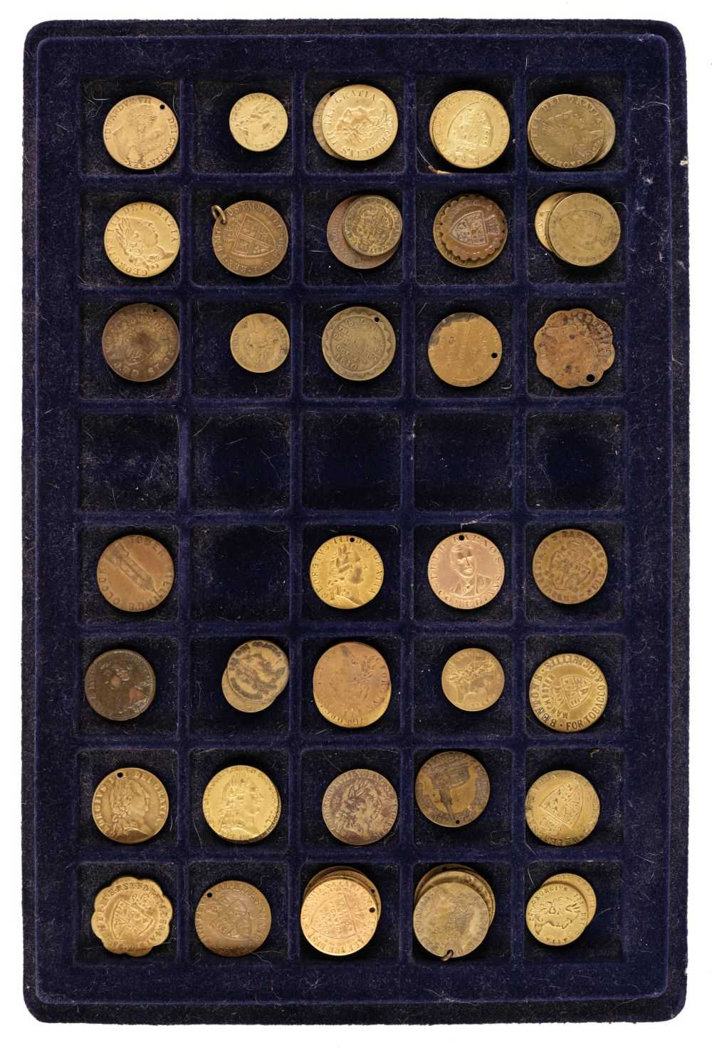 Lot 25 - Tokens. Imitation Spade Guineas. George III and later