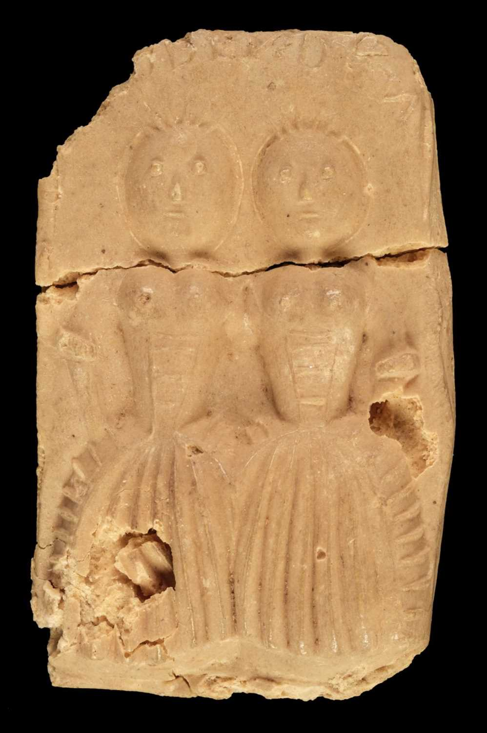 Lot 448 - Biddenden Maids. Commemorative biscuit, late 18th-early 19th century?