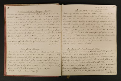 Lot 366 - Manuscript Cookery Book. A mid/late 19th century recipe book