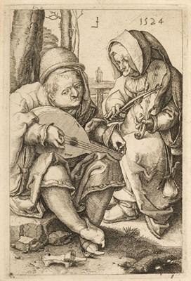 Lot 345 - Leyden (Lucas van, 1494-1533). The Musicians, 1524