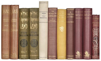 Lot 66 - Landon (Perceval). Lhasa, 1st edition, 1905, & 7 others on Tibet