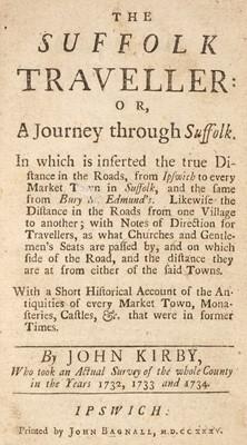 Lot 34 - Kirby (John). The Suffolk Traveller, 1st edition, 1735