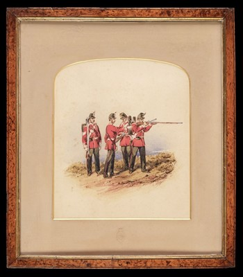 Lot 312 - Norie (Orlando, 1832-1901),  Huntingdonshire Regiment watercolour, circa 1900