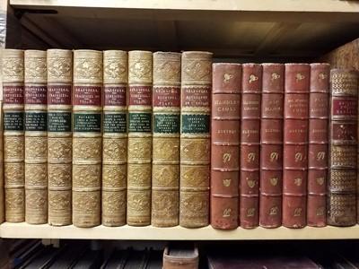 Lot 397 - Bindings. 67 volumes of 19th century literature