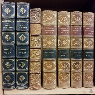 Lot 406 - Bindings. 78 volumes of 19th & early 20th century literature