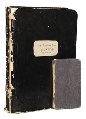 Lot 1 - Australia & New Zealand. Pair of manuscript travel journals, 1932-7