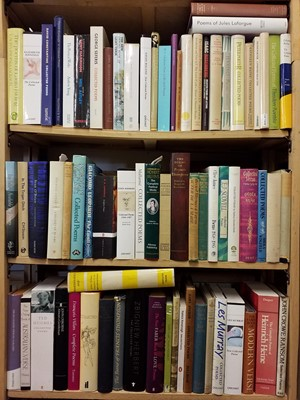 Lot 409 - Poetry. A large collection of modern poetry