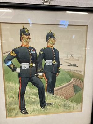 Lot 319 - Military Watercolours. 1st City of Edinburgh Rifle Volu[n]teer Corps, 1859, circa 1939