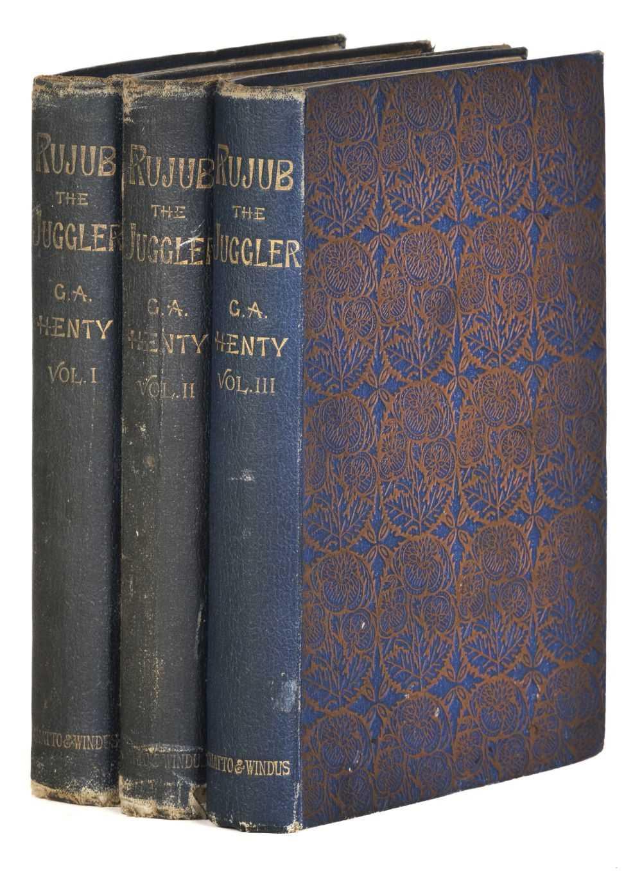 Lot 533 - Henty (G.A.) Rujub, the Juggler, 3 volumes, 1st edition, 1893