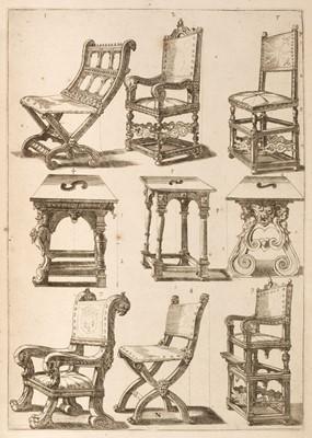 Lot 302 - Vignola (Jacopo Barozzi da). Regola de cinque ordini d'architettura, 3 parts in 1 volume, 1642