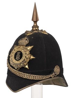 Lot 368 - Helmet. Green Howards blue cloth helmet.