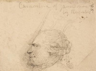Lot 328 - Reynolds (Joshua, 1723-1792). Portrait Sketch in Profile of Thomas Gainsborough (1727-1788)
